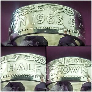 Coin Ring Size Z+2 1963 Halfcrown Coin Ring