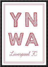 Liverpool You'll Never Walk Alone YNWA Poster Print A4 Gift