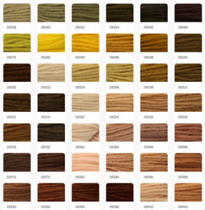 Anchor Coats Tapisserie Needlepoint Tapestry Wool - 10m Hanks Skeins 9258-9560