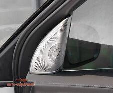 S/Steel Front Door Stereo Speaker Cover trim Chrome Benz GLC-Class X253 2016 17