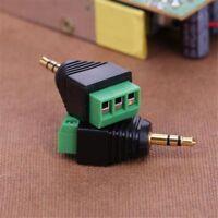 2Pcs 3-Pole Male Audio Jack Plug Stereo Headphone DIY Connectors 3.5mm 1/8in