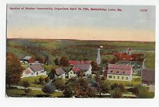 Sabbathday Lake ME Aerial View Shaker Community Maine Vintage Postcard