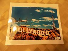 James Stewart Hand Signed 8x10 Color Photo+Coa Famous Hollywood Sign Jsa