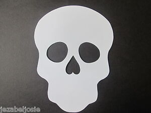 10 Large White Sugar Skull  Die Cuts Masks 23.7cm x 17.5cm Day of the Dead