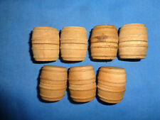 7 Lionel #0209 2 Piece Wood Wine Barrels