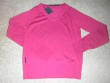 "ICEBREAKER ""Athena"" Women's Long Sleeve V-Neck Sweater Ruby Sz MEDIUM NWT"