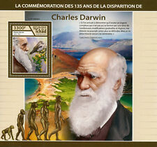 Chad 2017 MNH Charles Darwin 4v M/S Birds Evolution Science Famous People Stamps