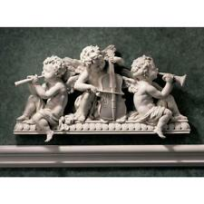 Angelic Notes Sculptural Design Toscano Wall Pediment With Aged Stone Finish