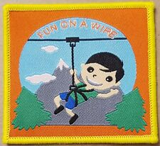 10 Fun on a wire zip wire boy scout sport blanket badge patch patches badges