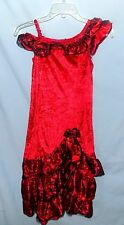 Awesome & Chic Hallow's Eve Special Occasion Bias Cut Hem Dress Size 7/8 Party
