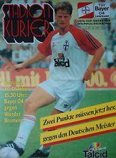 Programm 1993/94 Bayer 04 Leverkusen - Werder Bremen