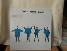 """THE BEATLES LARGE METAL """" HELP! """" ALBUM SLEEVE WALL SIGN - PLAQUE APPLE CORPS."""