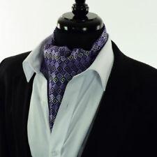 Accessoires cravates ascots violets en soie mélangée pour homme