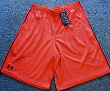 NWT Mens Under Armour L Red/Black Stripe Flex Shorts Large