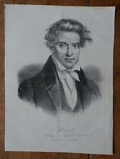 RASPAIL FRANCOIS VINCENT(1794-1878)-CHIMISTE-LITHO ORIGINALE CHARIVARI XIXEME