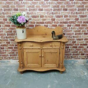 Victorian Pine Sideboard Kitchen Larder Cupboard Antique Country