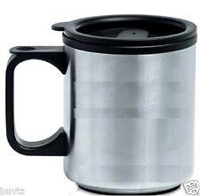 Home Travel Mug Reusable Plastic Coffee Cup Double Wall Tea Tumbler Office