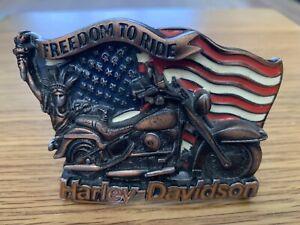 Vintage Harley Davidson Belt Buckle Freedom To Ride 1991 Baron