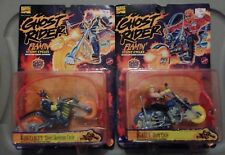 Toy Biz 1995 GHOST RIDER FLAMING STUNT CYCLES (x2) LOT 2 Figure New on Card MOC
