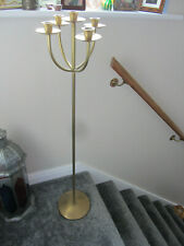 More details for lacquered brass candlestick large five cup holder 42