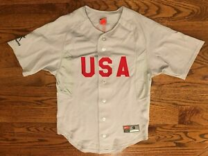 USA Paralympic Team Olympics Beijing 2008 Baseball Jersey Nike Team Men's Small