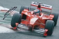 Mika Salo Hand Signed Scuderia Ferrari 12x8 Photo F1.