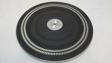 Vintage PHILIPS 222 TURNTABLE Parts - original PLATTER with MAT EXCL