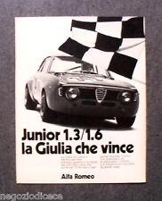 P541 - Advertising Pubblicità -1973- ALFA ROMEO GIULIA 1.3/1.6