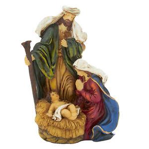 Navidad Belén Sagrado Familia Ornamento María San José y Bebé Jesús