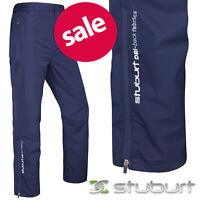 Stuburt Torrent Waterproof Golf Trousers Pants Men's - Midnight Navy NEW! 2020