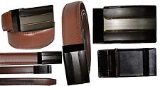 """Men's belt. Genuine Leather Dress/Casual Brand New self locking Buckle up to 43"""""""