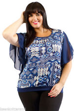 Party Satin Tops & Shirts Plus Size for Women