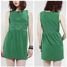 Urban Outfitters Pins & Needles Sleeveless Crepe Dress Floral Waist Large Green