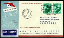 Austria, First Fly Cover, Wien - Bukarest, Year 1959, Austrian Airlines