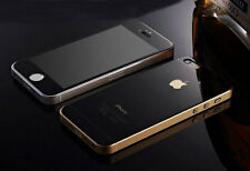 Black iPhone 5/5s Mirror Tempered Glass Film 0.3mm 9H Front Back Full Body