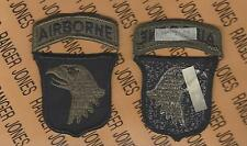 US Army 101st Airborne Division Air Assault OD Green & Black BDU patch m/e