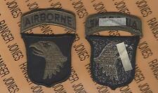 101st Airborne Division Air Assault Od Green & Black Bdu patch m/e