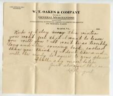 1910s Letterhead WT Oakes GLADYS VA International Harvester Thornhill Wagons