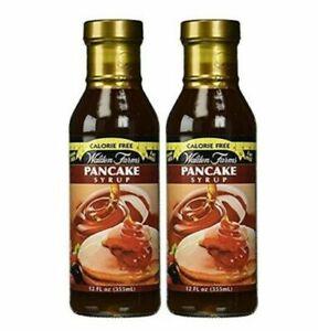 2 X Walden Farms Pancake Syrup Maple Flavor Sugar & Carb Free 12 oz Free Ship