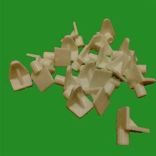 12x 6mm à clipser beige plastique SUPPORT D'étagère pinces à linge clous ,