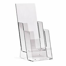 1/3rd A4 DL (100mm W x 210mm H) 2 Tier Leaflet Holder Display Stand - BPS2C110
