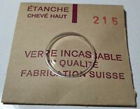 Verre de montre suisse bombé plexi diamètre 215 Watch crystal vintage *NOS*