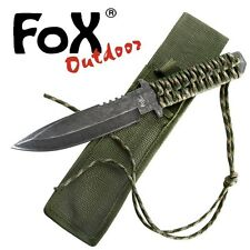 KNIFE COLTELLO FOX 98 OUTDOOR DA CACCIA SURVIVOR PARACORD SURVIVAL SOPRAVVIVENZA