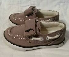 Ralph Lauren Polo Gray Deck Shoes Navy Pony Boy's Toddler Size 5 EUC