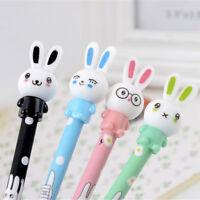 3Pcs Cute 0.5mm Rabbit Gel Pen Kawaii Bunny Black Ink Maker Stationery Supply YA