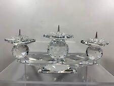 Swarovski Crystal Ttriple Pin Candle Stick Holder 7600 107 Mib W/Coa