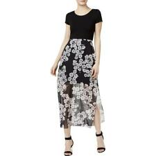 """VINCE CAMUTO"" BLACK FLORAL CHIFFON PRINT SKIRT MAXI DRESS SIZE: S NWT $129"