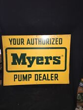 "1970's 24"" Myers Pumps Dealers Sign"