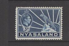 NYASALAND 1938 3d BLUE Very Lightly Mounted Mint