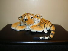 """American Furniture Warehouse Realistic Bengal Tiger Mother & Baby Cub Plush 19"""""""